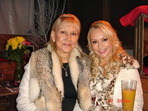 Kristina with her mother