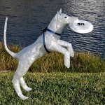 Sculpture made of Scotch packaging tape