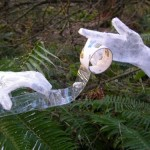 Scotch packaging tape sculpture