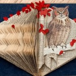 An Owl book collage by Canadian artist Rachael Ashe