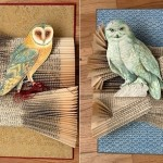 Wise owls and books. Spectacular altered books by Canadian artist Rachael Ashe
