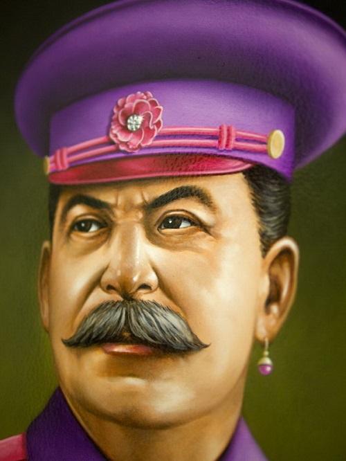 Stalin, Pink portraits by American artist Scott Scheidly