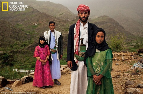 Tahani (in pink) was just six years old when she she married Majed, 25 (standing next to her).