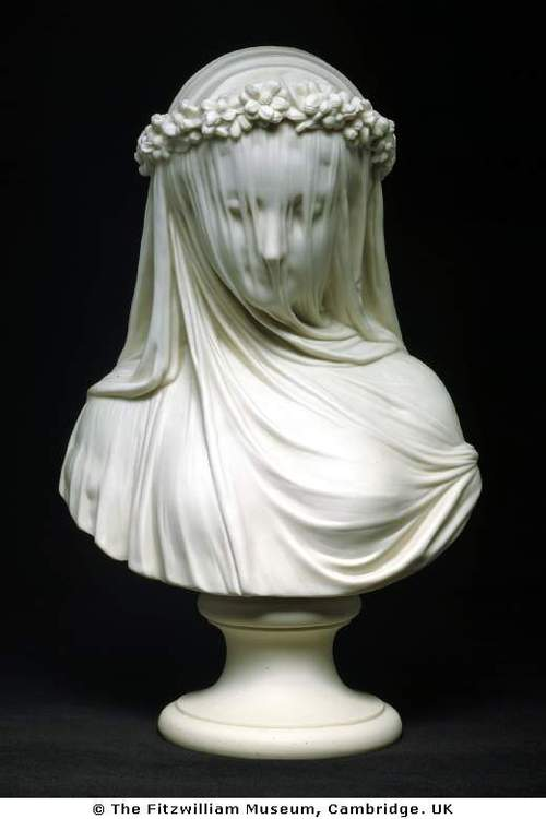 marble bust: the veiled bride of Chatsworth: