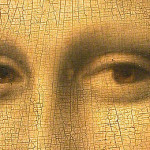 The Mona Lisa has no eyebrows. It was the fashion in Renaissance Florence to shave them off