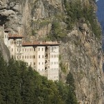 The Sumela monastery in Turkey created 386AD apparently after two priests discovered a miraculous icon of the Virgin Mary in a cave on the mountain