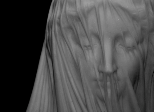 The veiled Vestal Virgin by Raffaelle Monti