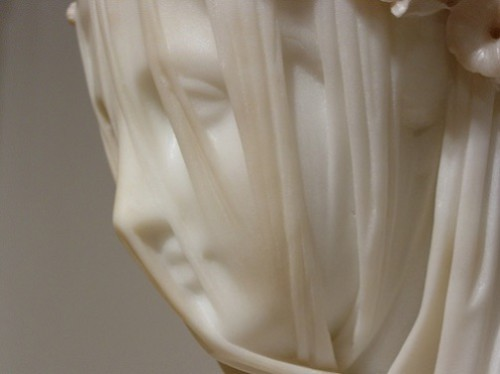 Veiled Vestal Virgin by Raffaelle Monti,Chatsworth House