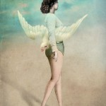 Seagull. Surreal art by German digital artist Catrin Welz-Stein