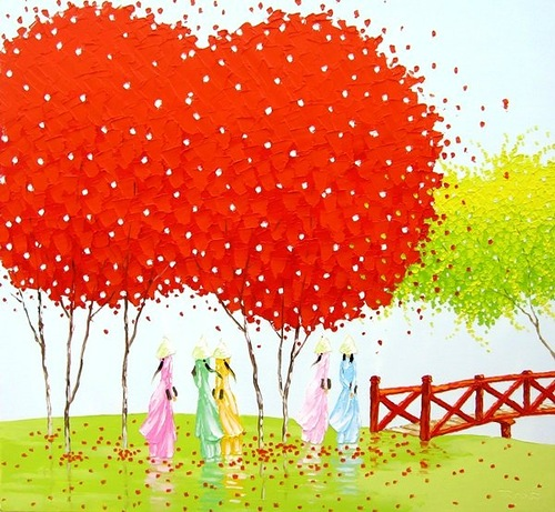 Colorful painting by Phan Thu Trang