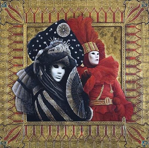 Painting by Russian artist Sergey Kustarev