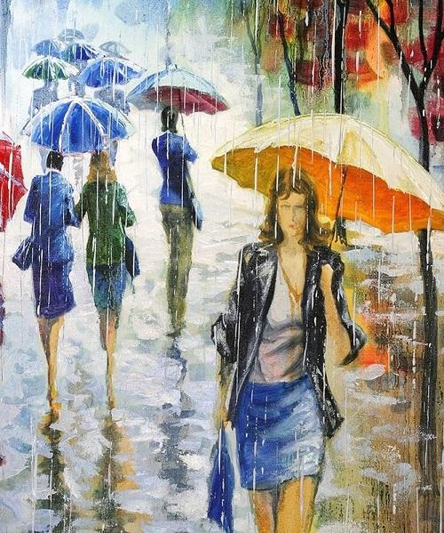 Человек с зонтиком картинки