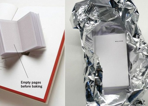 empty pages before baking