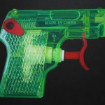 Made in China toy pistol. Hyperrealistic paintings by British artist Leigh Mulley