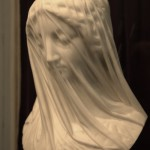 statue of the Blessed Virgin Mary in marble, by Strazza