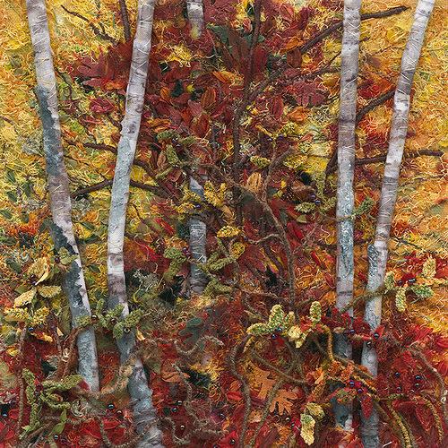 Stitchery painting Julie Crabtree Pfannes
