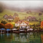 The village pond. Beautiful landscape by Katarina Stefanovich, talented nature photographer from Belgrade, Serbia