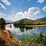 Reflections, summer landscape. Beautiful photo art by Katarina Stefanovich, talented photographer from Belgrade, Serbia