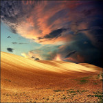 Earth and clouds, summer landscape. Beautiful photo art by Katarina Stefanovich, talented photographer from Belgrade, Serbia