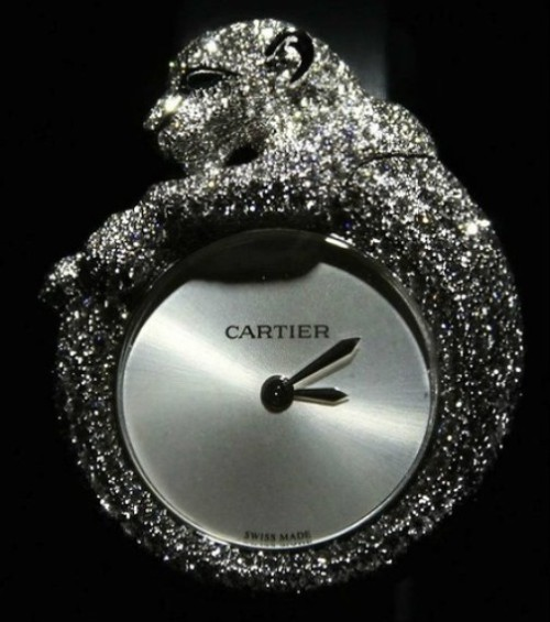 "Cartier jewelry watches Spotted Panther has become a symbol of the art-house thanks to the director Jeanne Toussaint, whose nickname was ""Panther"""