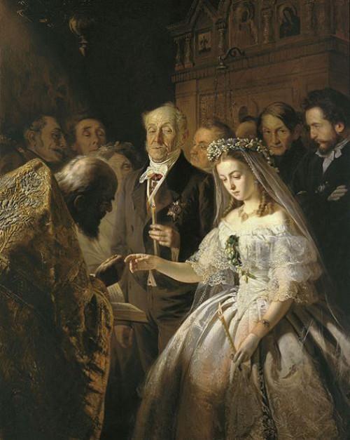 Celebrities Age disparity. The Unequal Marriage by Vasili Pukirev, 1862