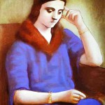 Painted by Picasso, his wife, Olga