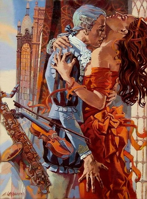 Romantic paintings by Alexey Lashkevich
