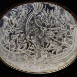 Crystal plaque, naval battle