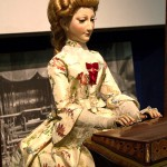The musician – a girl playing the organ