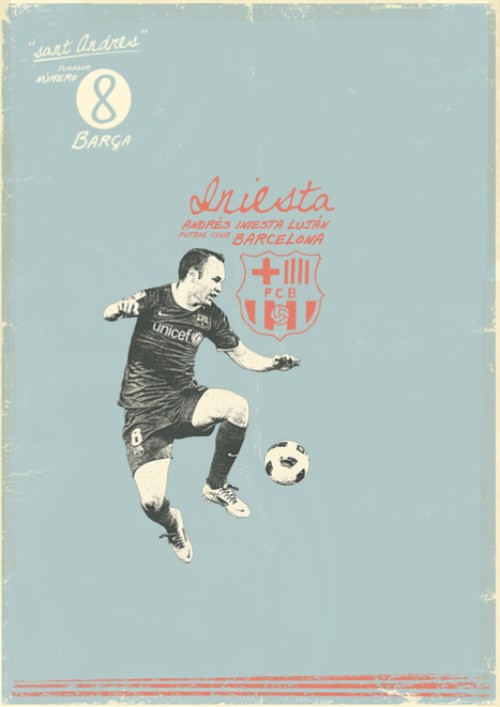 Andres Iniesta. Football legends by Zoran Lucic