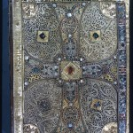 Back book cover of the Lindau Gospels, ca. 800