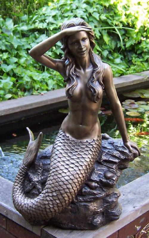 Bronze Pond Mermaid