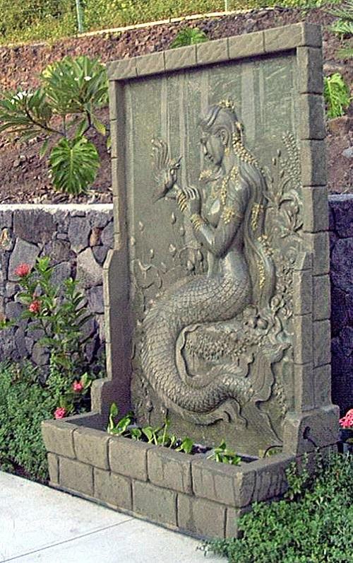 Chinese mermaid on wall