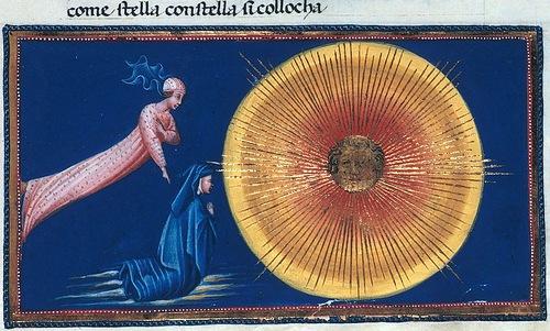 Divina Commedia - Paradiso - illuminated by Italian painter Giovanni di Paolo di Grazia c. 1450