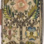 Embroidered satin book with floral motif. The Whole Book of Psalmes (London, 1639)