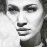 Angelina Jolie Portrait. Digital Illustrations by Ukrainian artist Yuriy Ratush