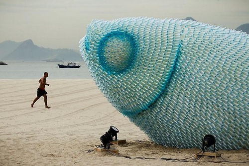 Giant Fish Sculptures in Rio de Janeiro