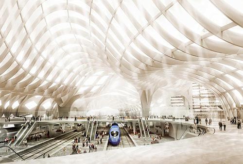 Futuristic project of International Railway Station in Astana, Kazakhstan