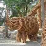 Garden of pots in Nong Nooch park, Thailand