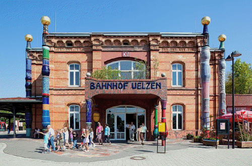 Hundertwasser Railway station in Uelzen, Germany