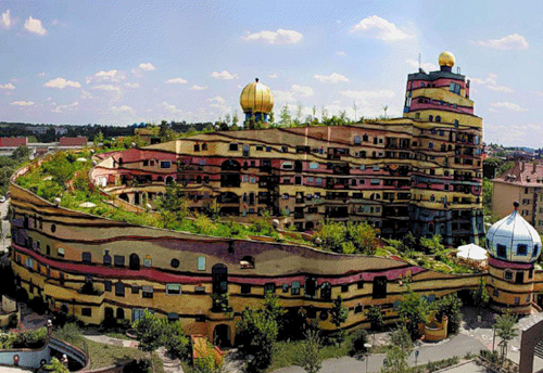 Hundertwasser's architecture