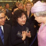 Kim, her husband and Queen Elisabeth