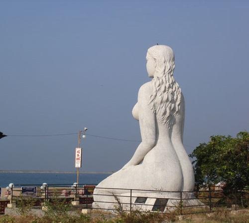 Kollam Beach mermaid