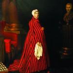 Painting by Nikolai Argunov. Portrait of Countess P.I. Sheremetyeva in striped robe. 1803. State Museum of Ceramics