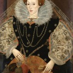 Queen Elizabeth I with a Fan, 1590th. Unknown artist, private collection