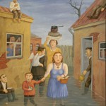 The yard of my childhood. Russian life in paintings by Vladimir Lyubarov