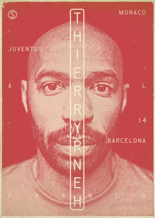 Thierry Henry. Football legends by Zoran Lucic