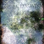 Tomb of Tamara Karsavina in Hempstedskom Cemetery near London in 2008