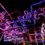 dazzling light projections across the city