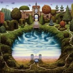 Surreal painting by Polish artist Jacek Yerka